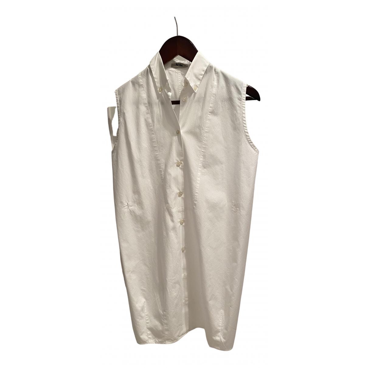 Acne Studios \N White Cotton dress for Women 36 FR