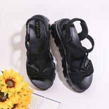 Bow Decor Ankle Strap Sandals