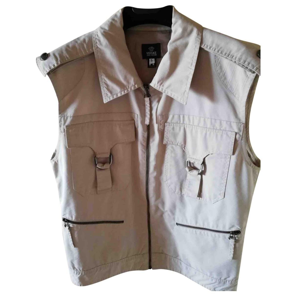 Versace Jeans \N Beige Cotton jacket  for Men L International