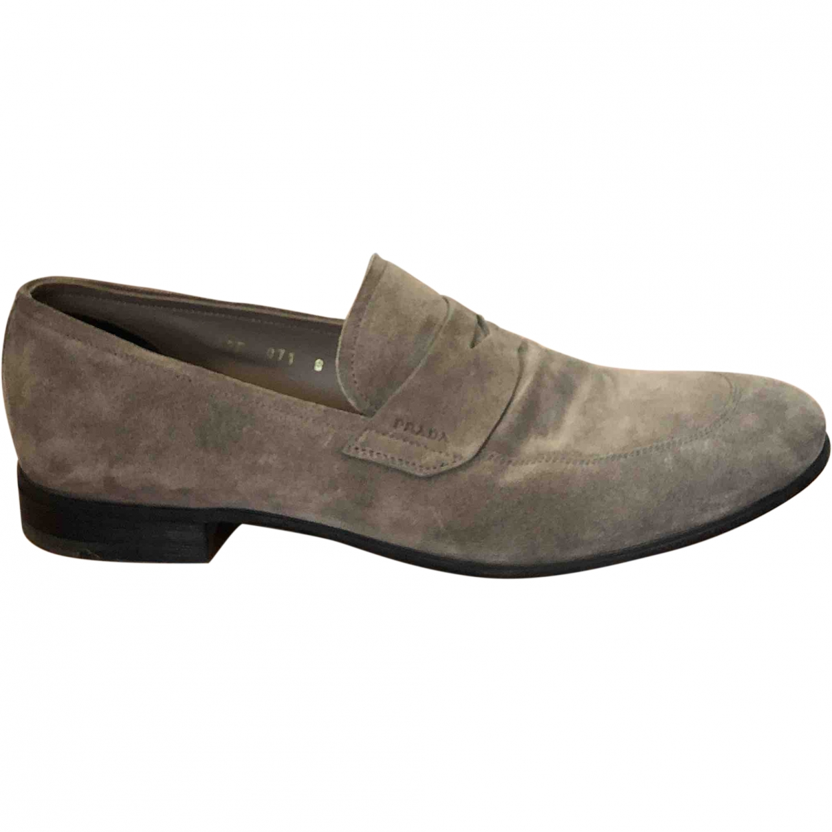 Prada \N Grey Suede Flats for Men 8 UK