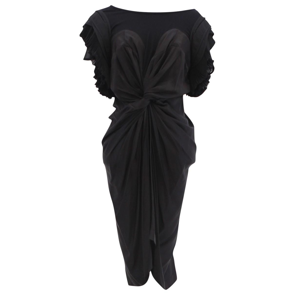 Preen \N Kleid in  Schwarz Seide