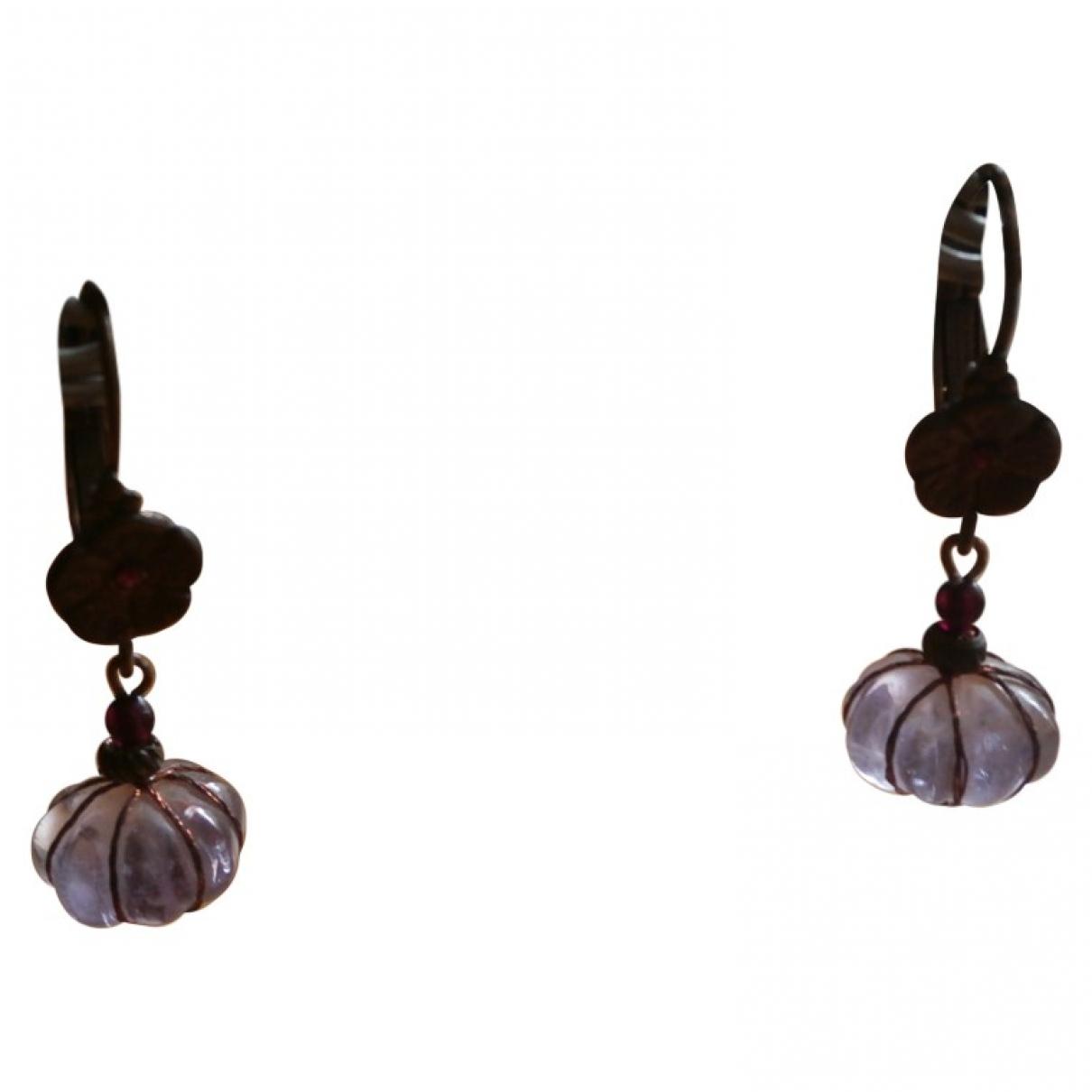 - Boucles doreilles   pour femme en metal - noir