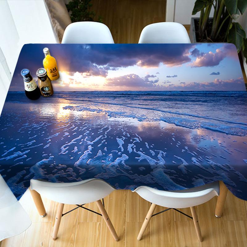 Birthday Decoration Vivid Color Dining Room 3D Tablecloth