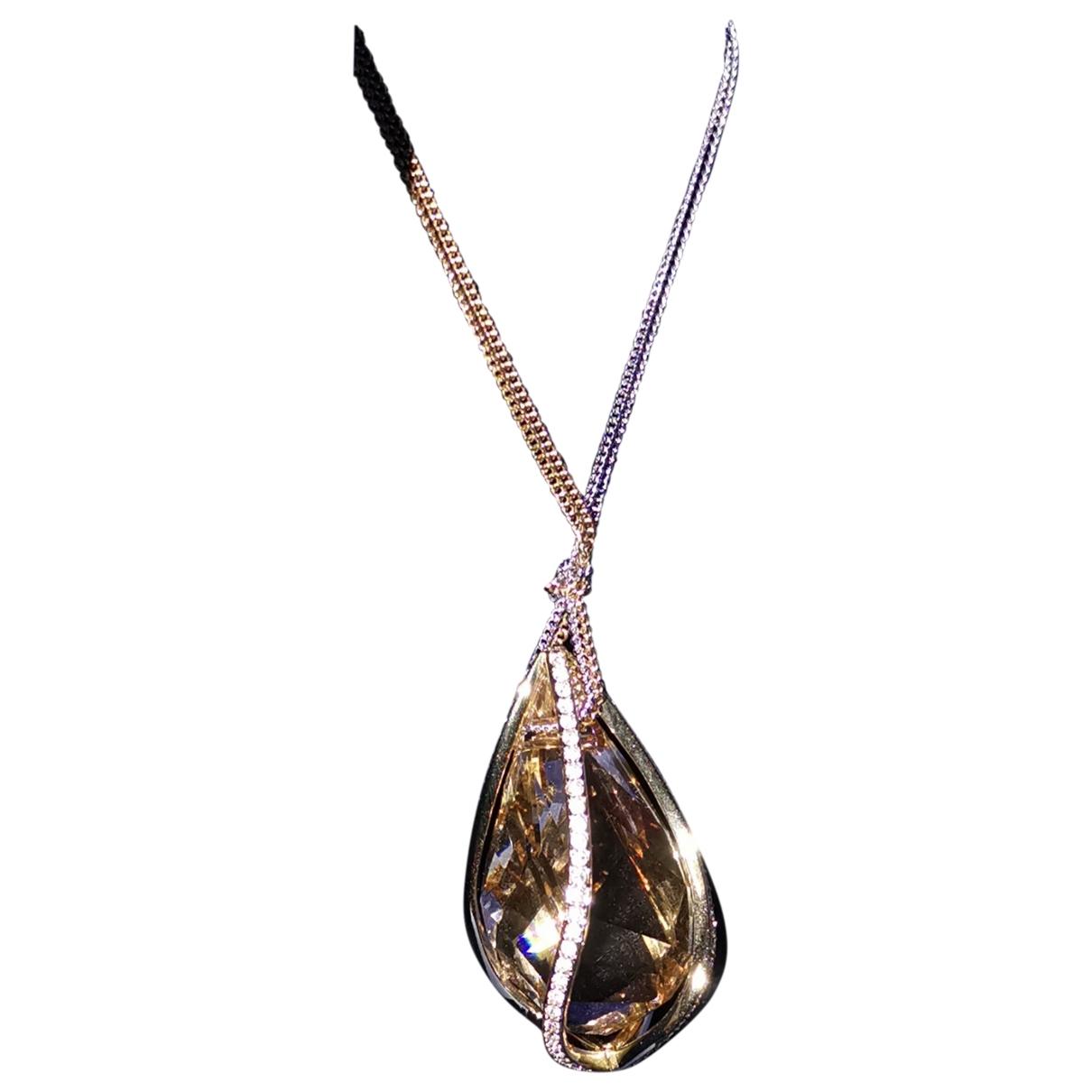 Swarovski \N Anhaenger in  Gold Kristall