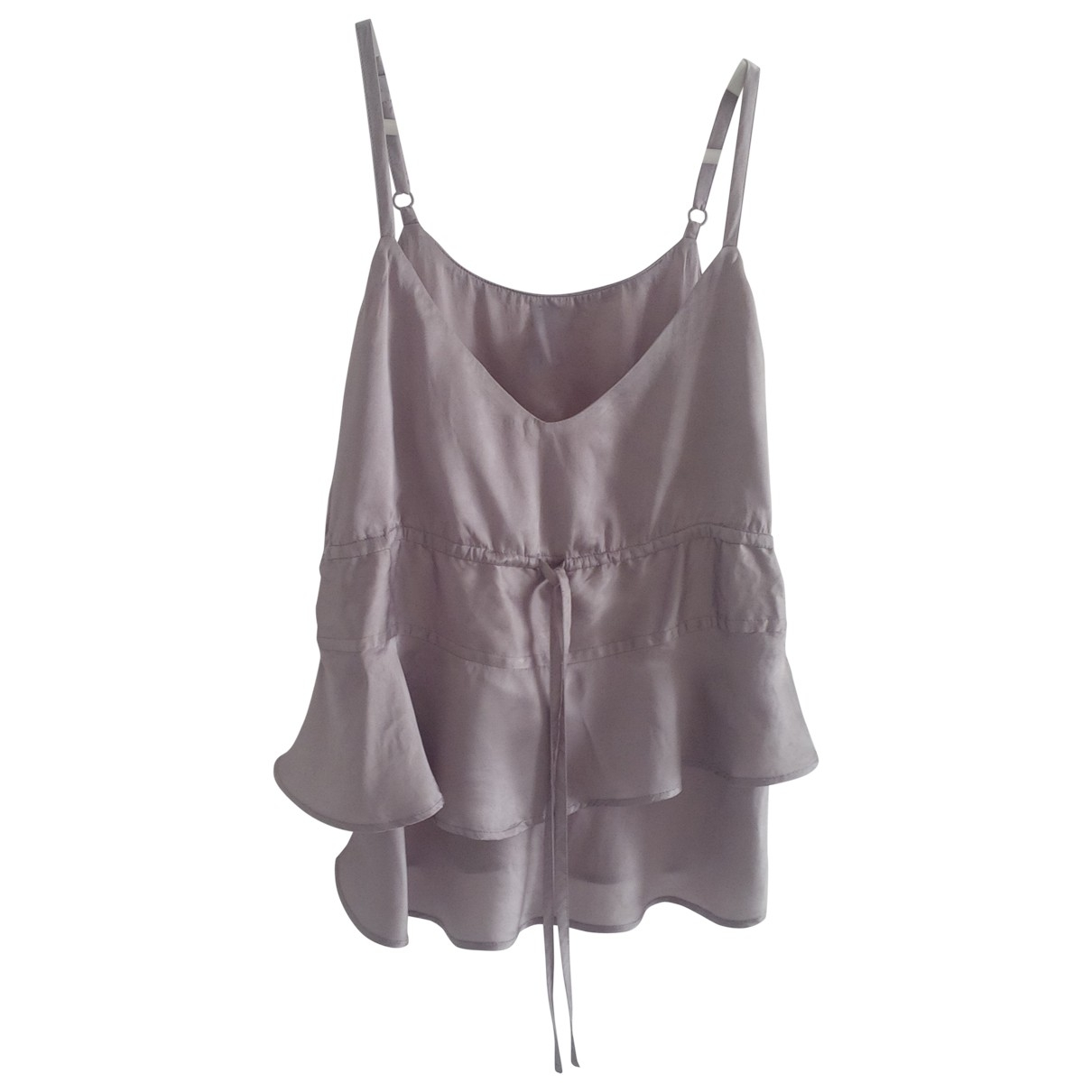 Non Signé / Unsigned \N Grey Silk  top for Women S International
