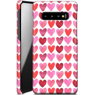 Samsung Galaxy S10 Plus Smartphone Huelle - Heart Watercolour von Amy Sia