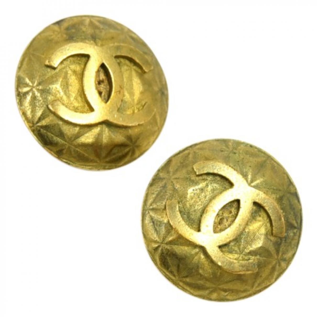 Chanel - Boucles doreilles CC pour femme en autre - dore