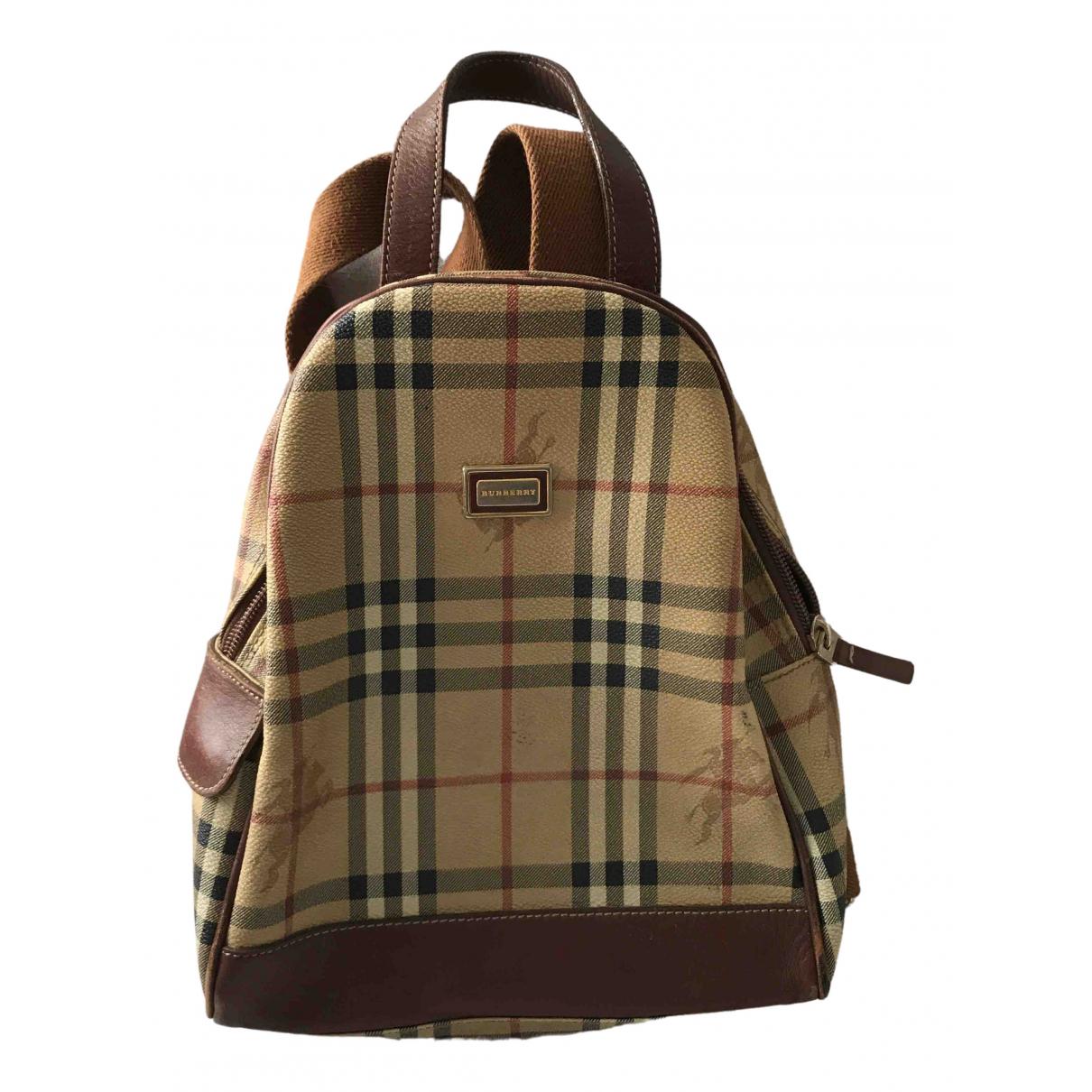 Burberry \N Beige Cloth backpack for Women \N