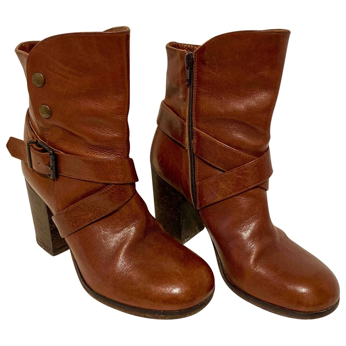 Steve Madden \N Brown Leather Boots for Women 38 EU