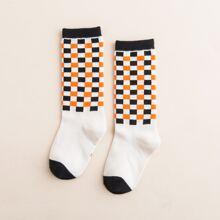 Kleinkind Socken mit Karo Muster