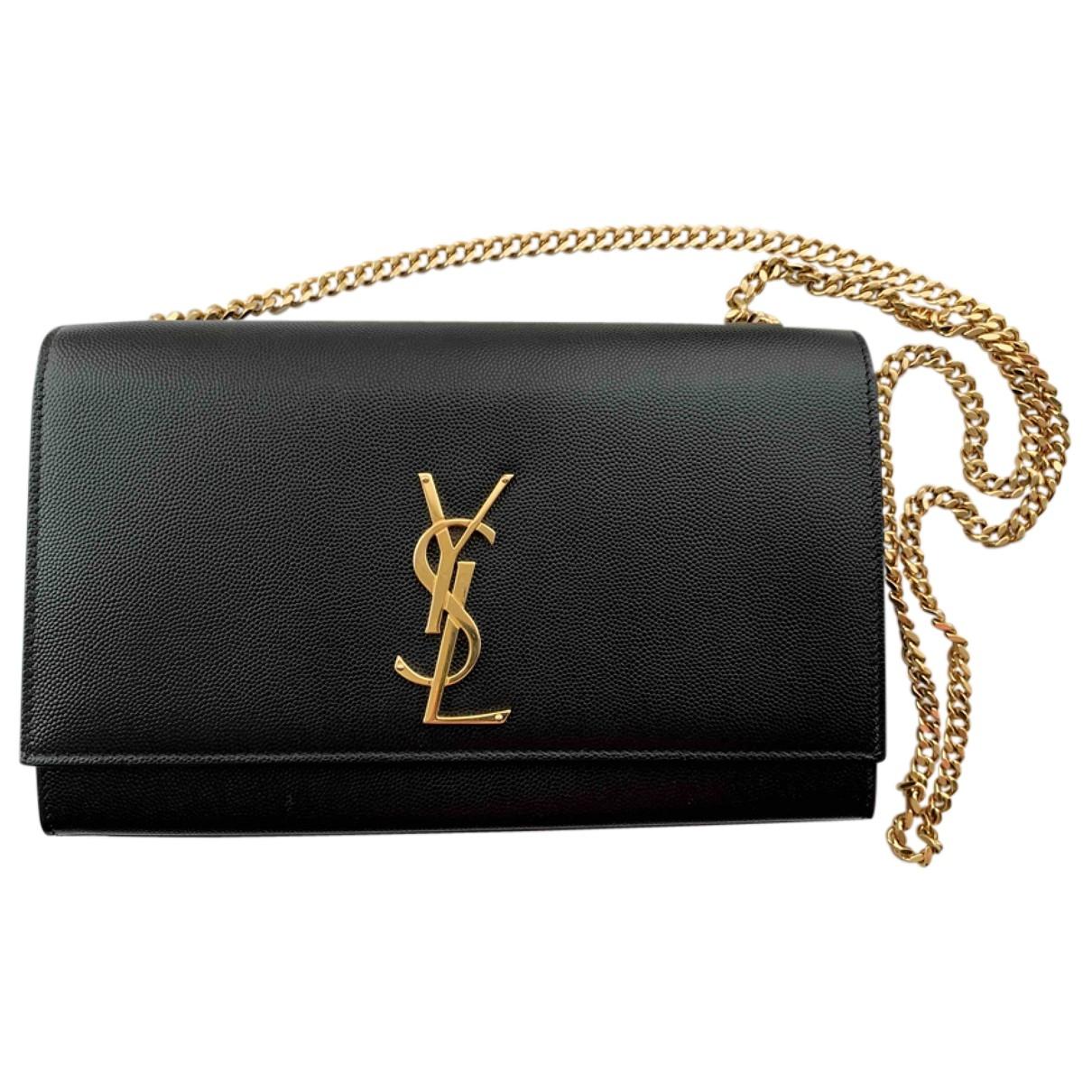 Saint Laurent Kate monogramme Black Leather handbag for Women \N