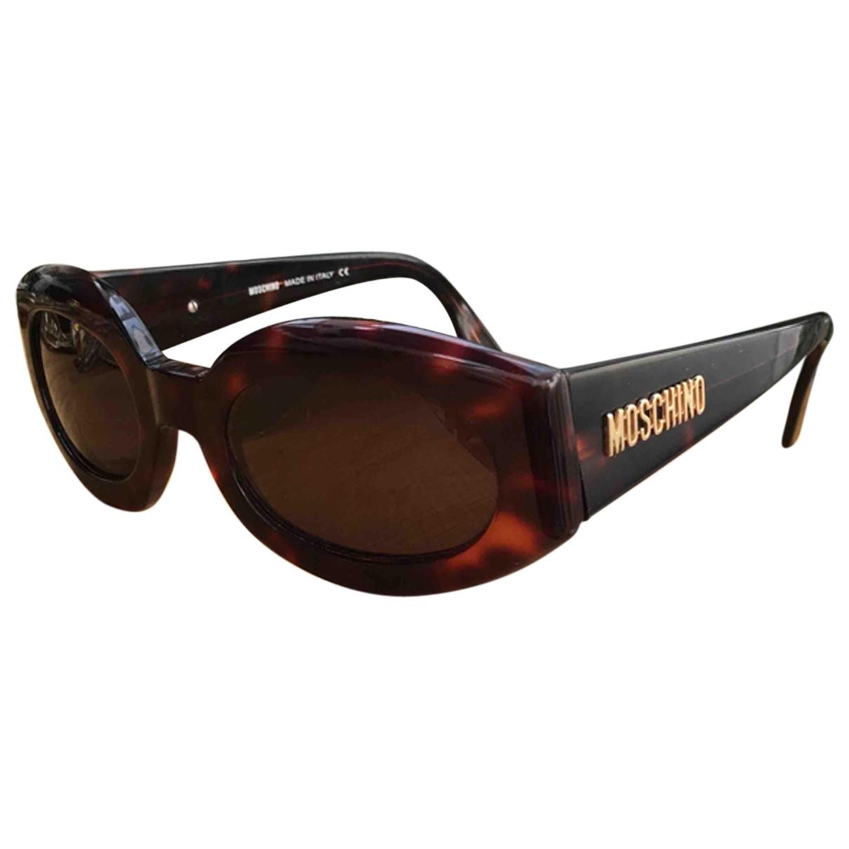 Moschino \N Sonnenbrillen in  Braun Kunststoff