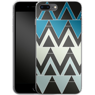 Apple iPhone 8 Plus Silikon Handyhuelle - Blue Triangles von caseable Designs