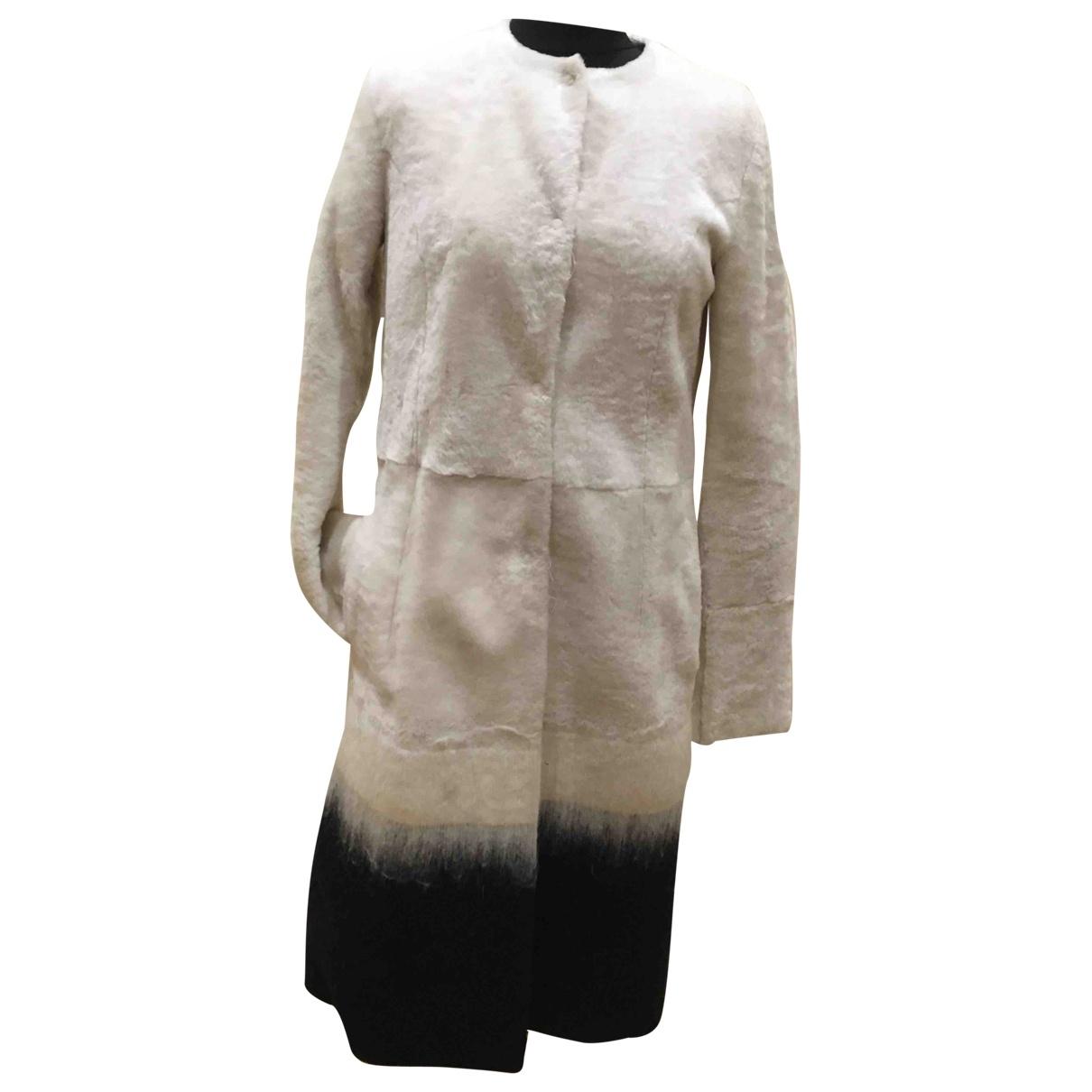 Drome - Manteau   pour femme en mouton - multicolore