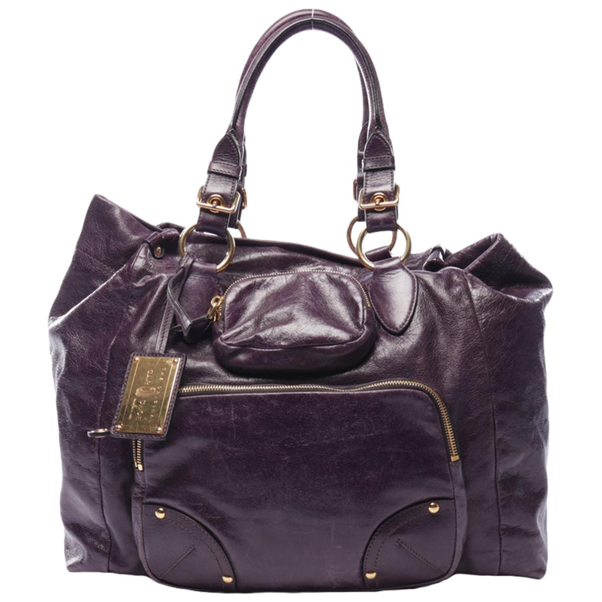 Autre Marque \N Purple Leather handbag for Women \N