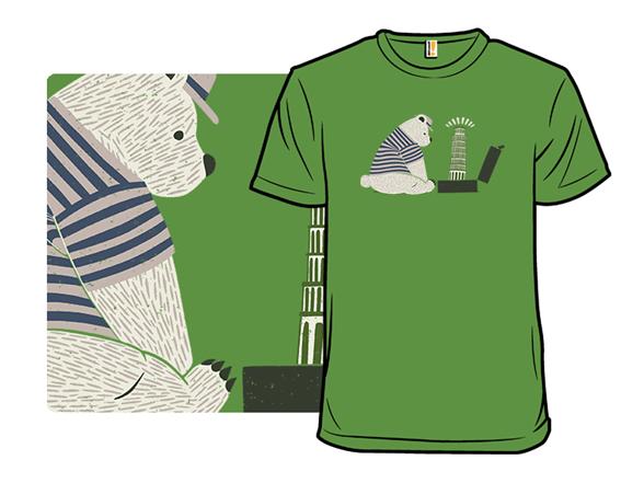 Tourist Bear Visits Italy T Shirt