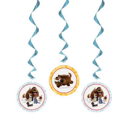 The Secret Life of Pets 3 Hanging Swirl Decorations 26