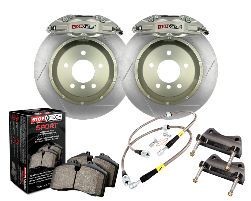 StopTech 83.153.0058.R1 Trophy Sport Big Brake Kit Silver Caliper; Slotted 2-Piece Rotor; Rear BMW Rear 2006-2009