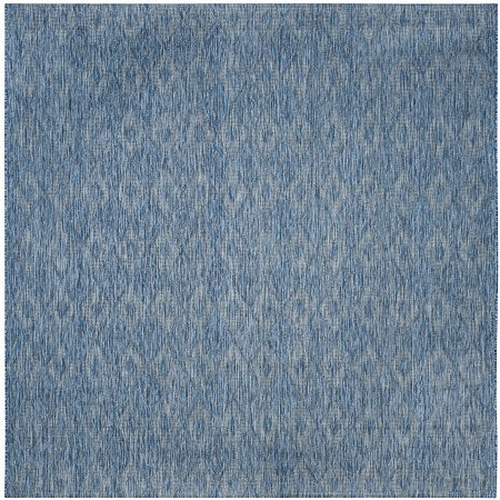 Safavieh Courtyard Collection Elisa Geometric Indoor/Outdoor Square Area Rug, One Size , Blue