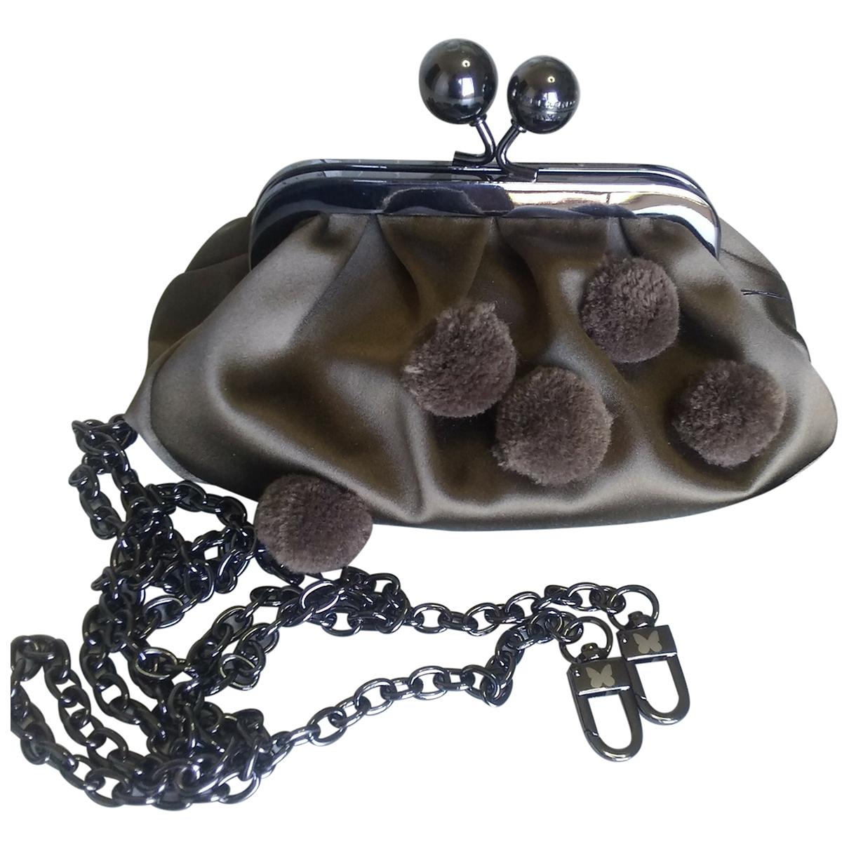 Max Mara Weekend \N Khaki Silk Clutch bag for Women \N
