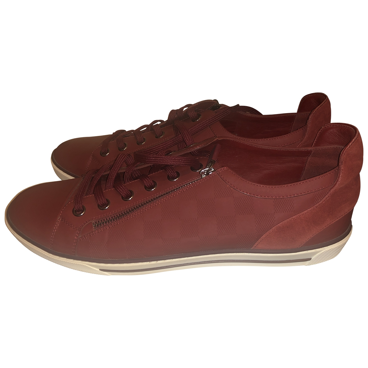 Louis Vuitton - Baskets FrontRow pour femme en cuir - rouge