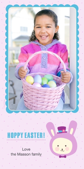 Easter Cards Flat Glossy Photo Paper Cards with Envelopes, 4x8, Card & Stationery -Hoppy Easter!