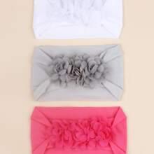 3 piezas diadema de bebe con diseño de flor