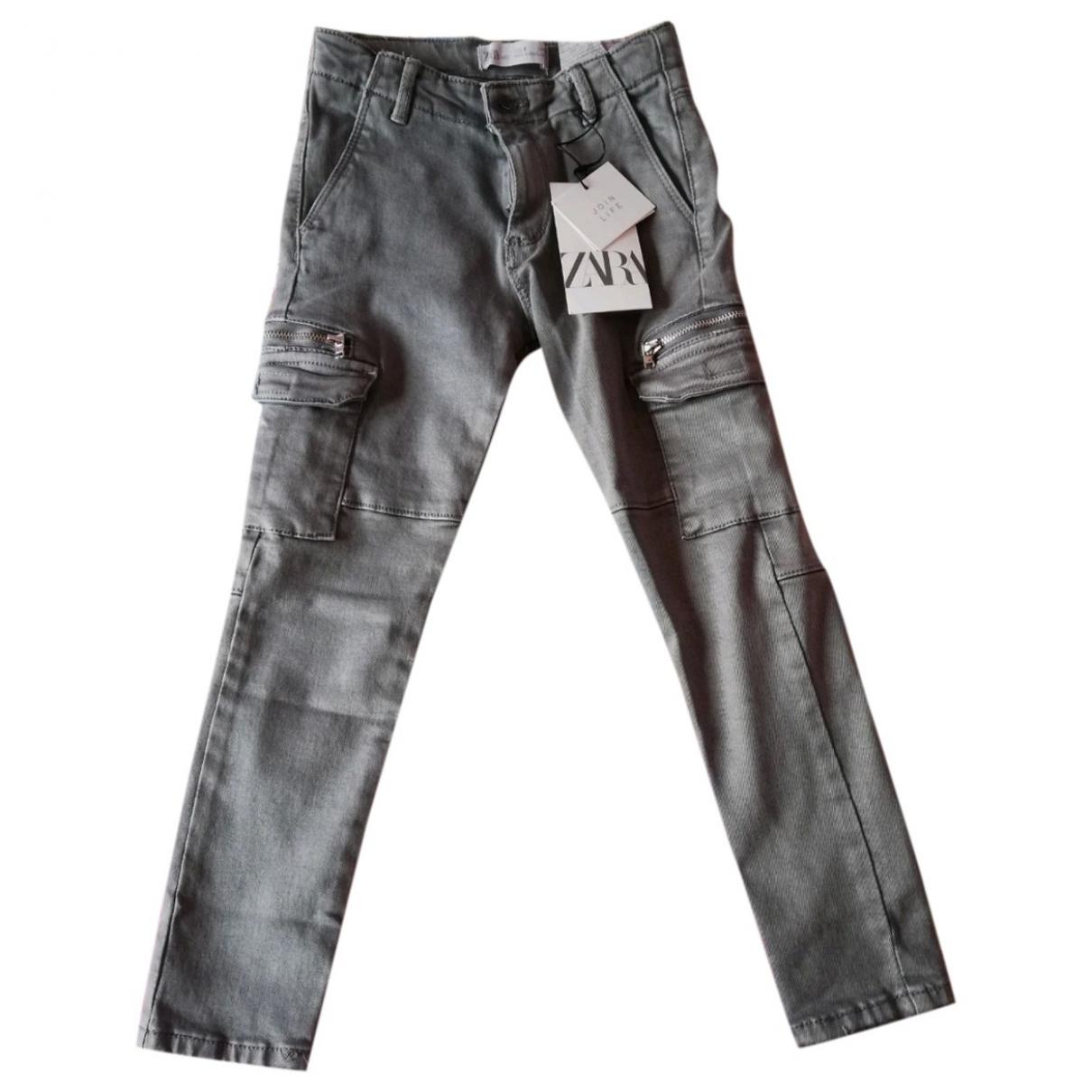 Zara - Pantalon   pour enfant en coton - anthracite