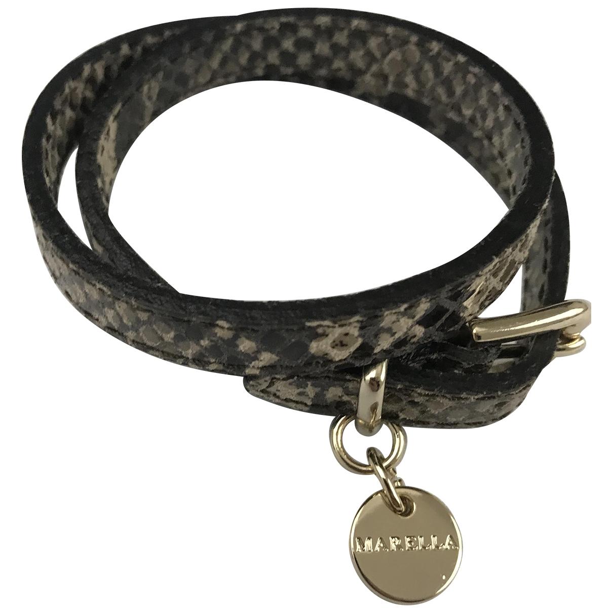 Marella - Bracelet   pour femme en cuir - noir