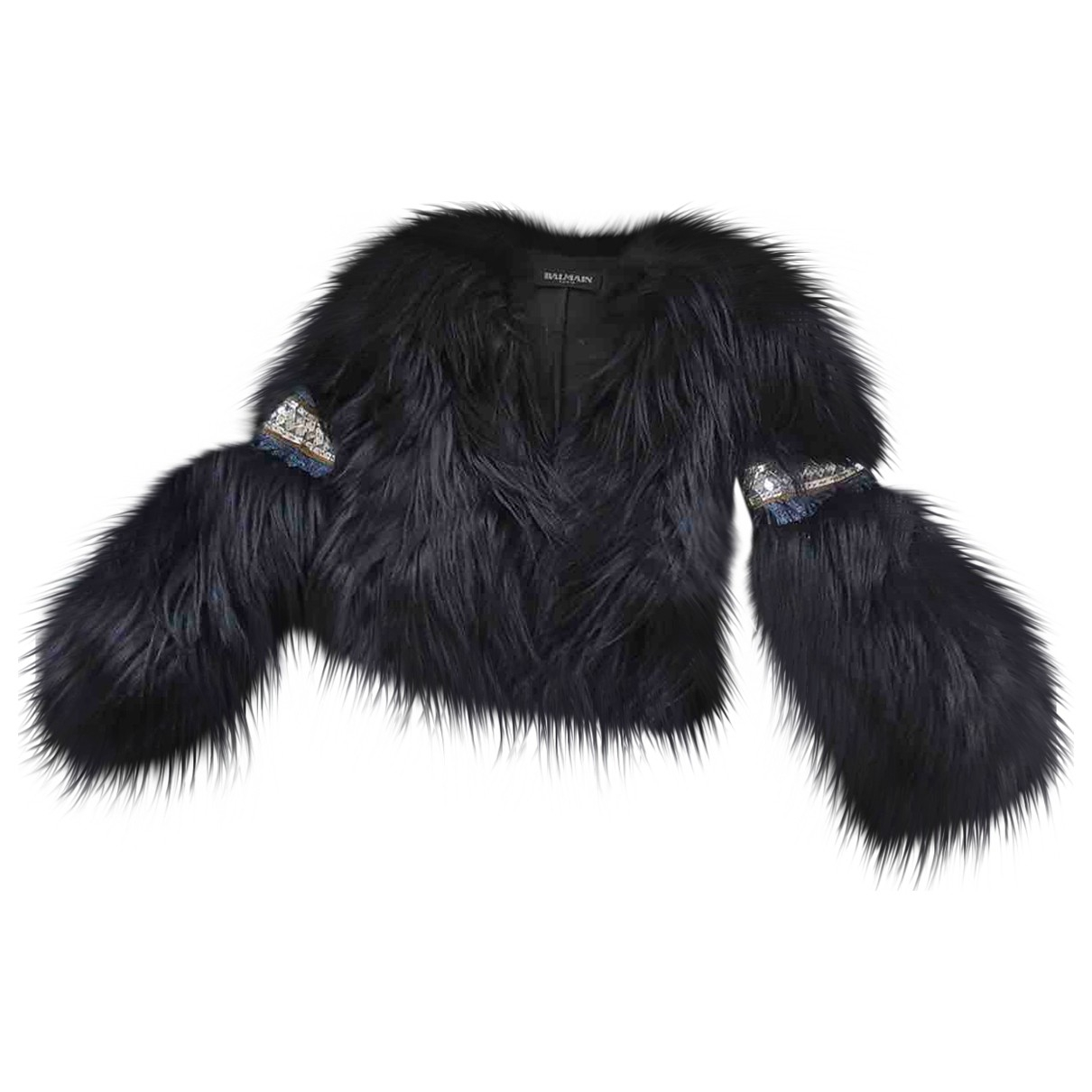 Balmain N Black Fur jacket for Women 38 FR