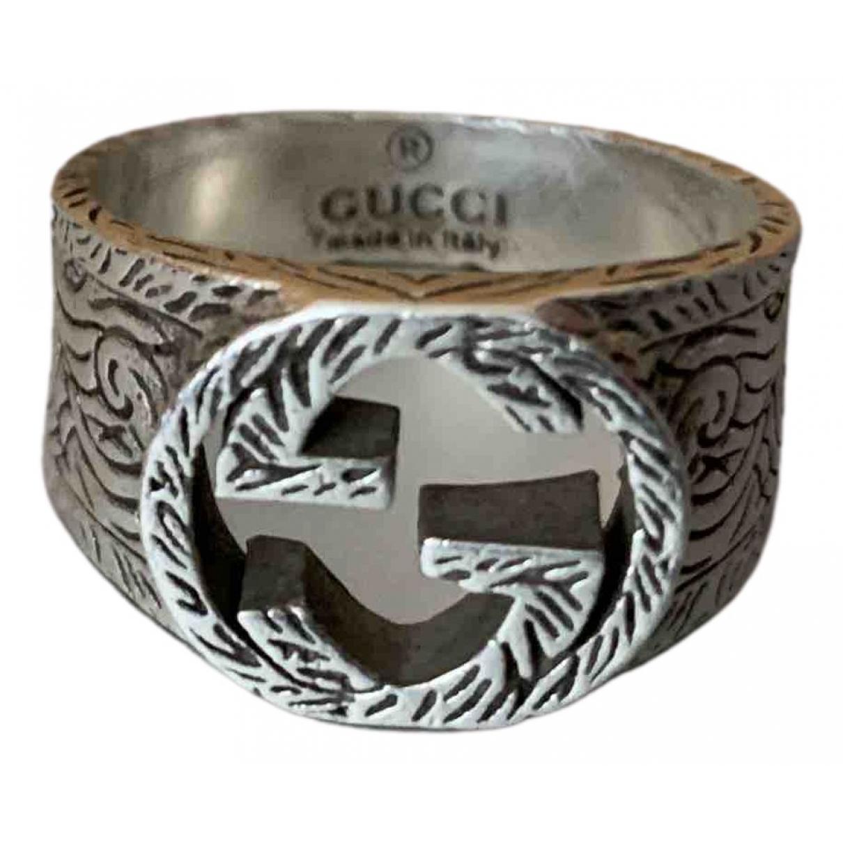 Gucci - Bague   pour femme en argent - argente