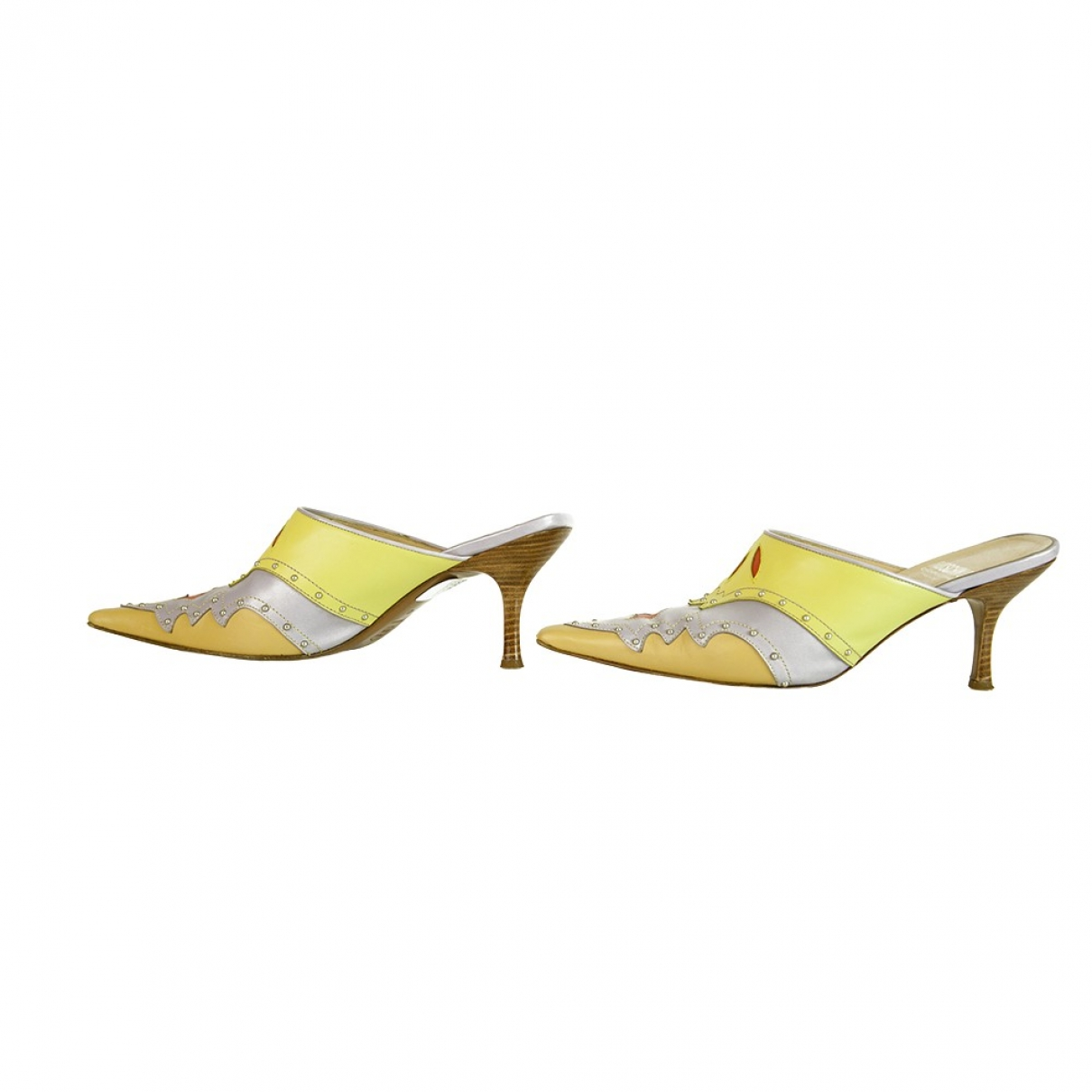 Moschino Cheap And Chic \N Clogs in  Bunt Leder