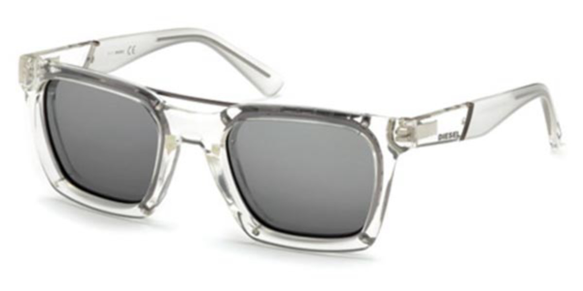 Diesel DL0250 26C Mens Sunglasses Clear Size 52