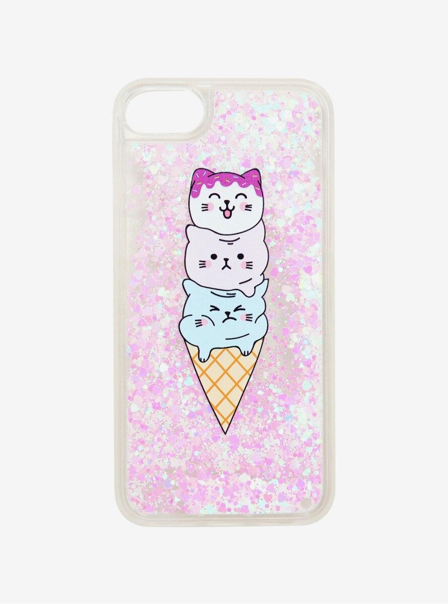Ice Cream Cat Glitter Smartphone Case - BoxLunch Exclusive