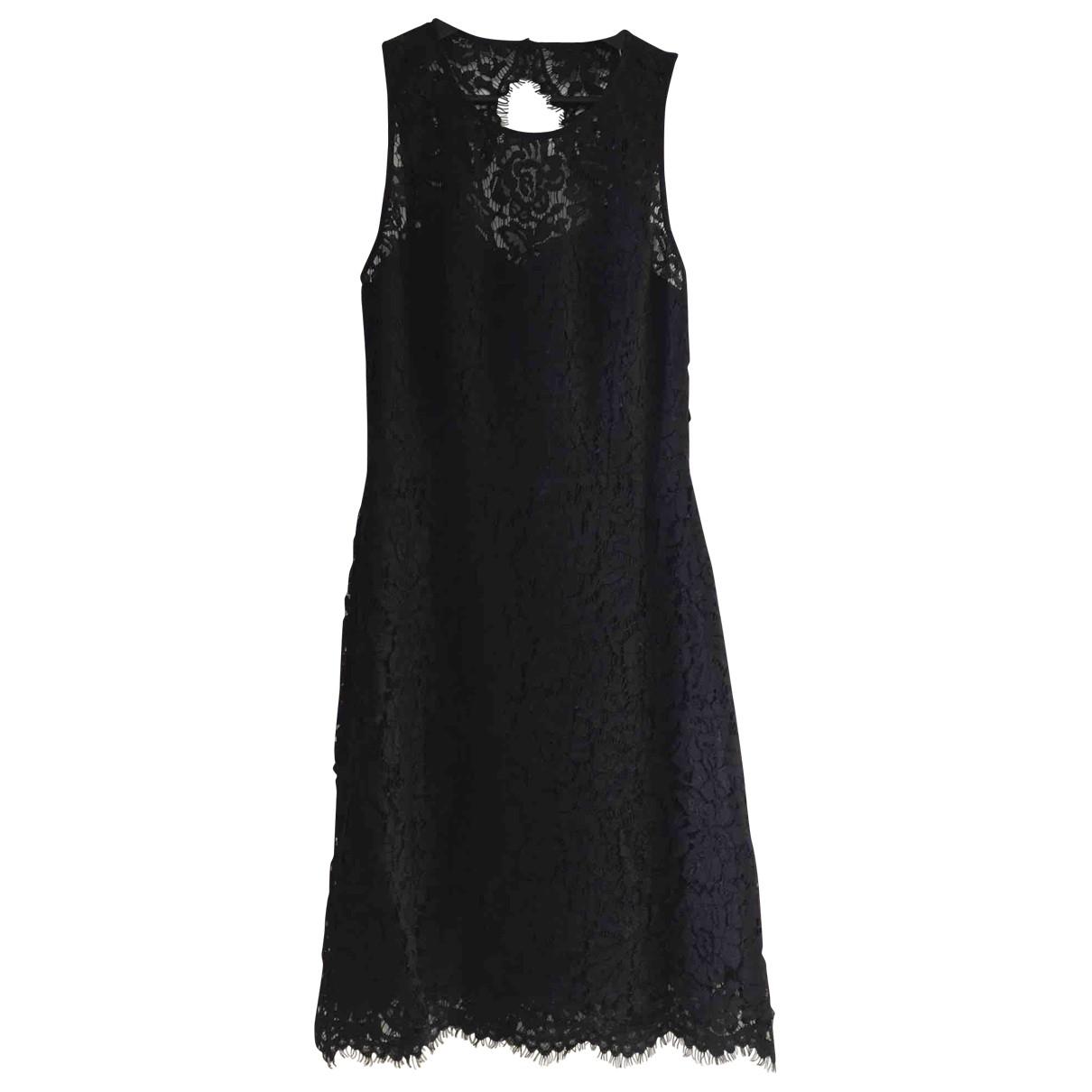 Samsoe & Samsoe \N Kleid in  Schwarz Seide