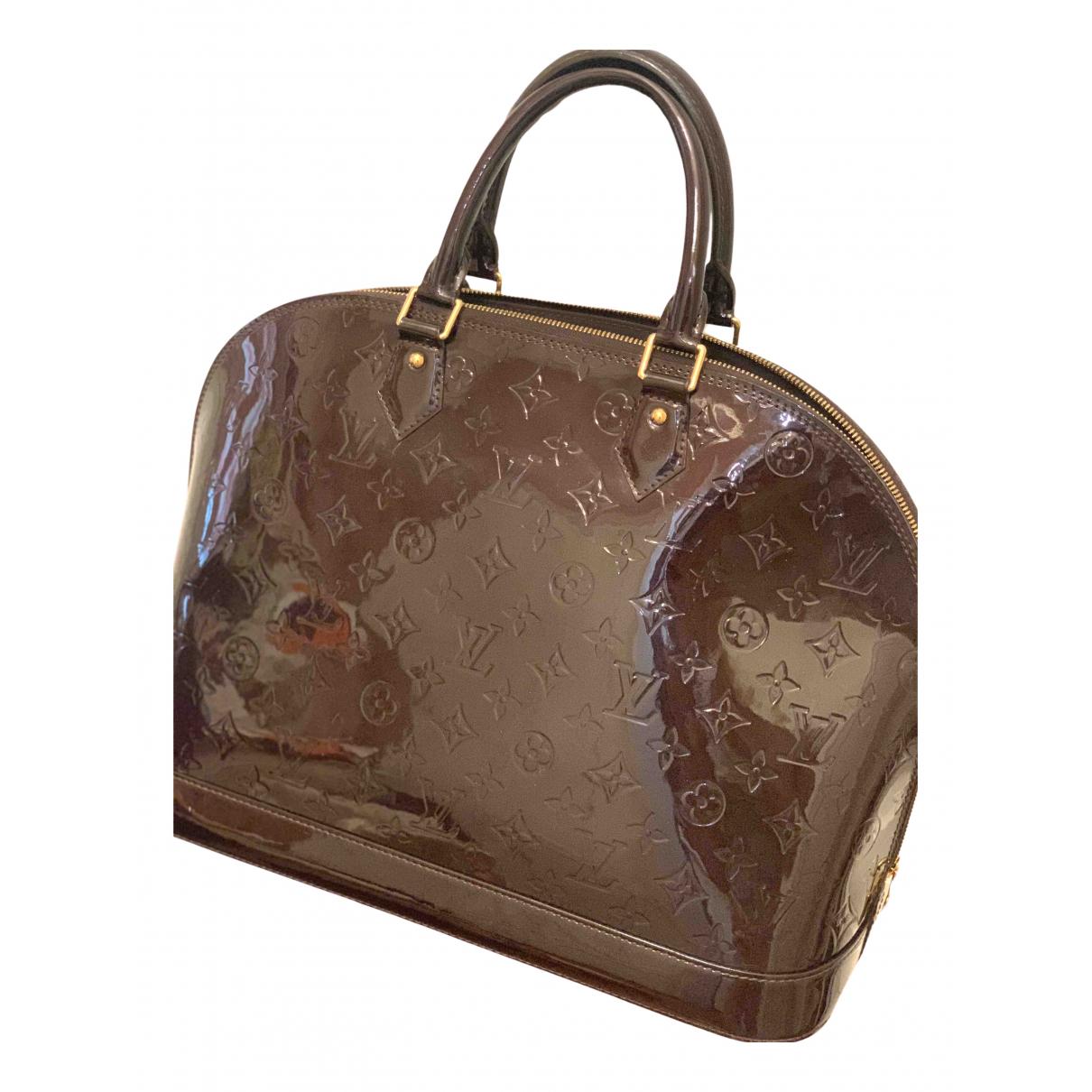 Louis Vuitton Alma Burgundy Patent leather handbag for Women N