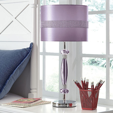 Signature Design by Ashley Acrylic Table Lamp, One Size , Purple