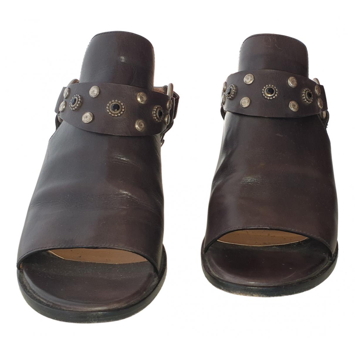 Sartore - Sandales   pour femme en cuir - noir