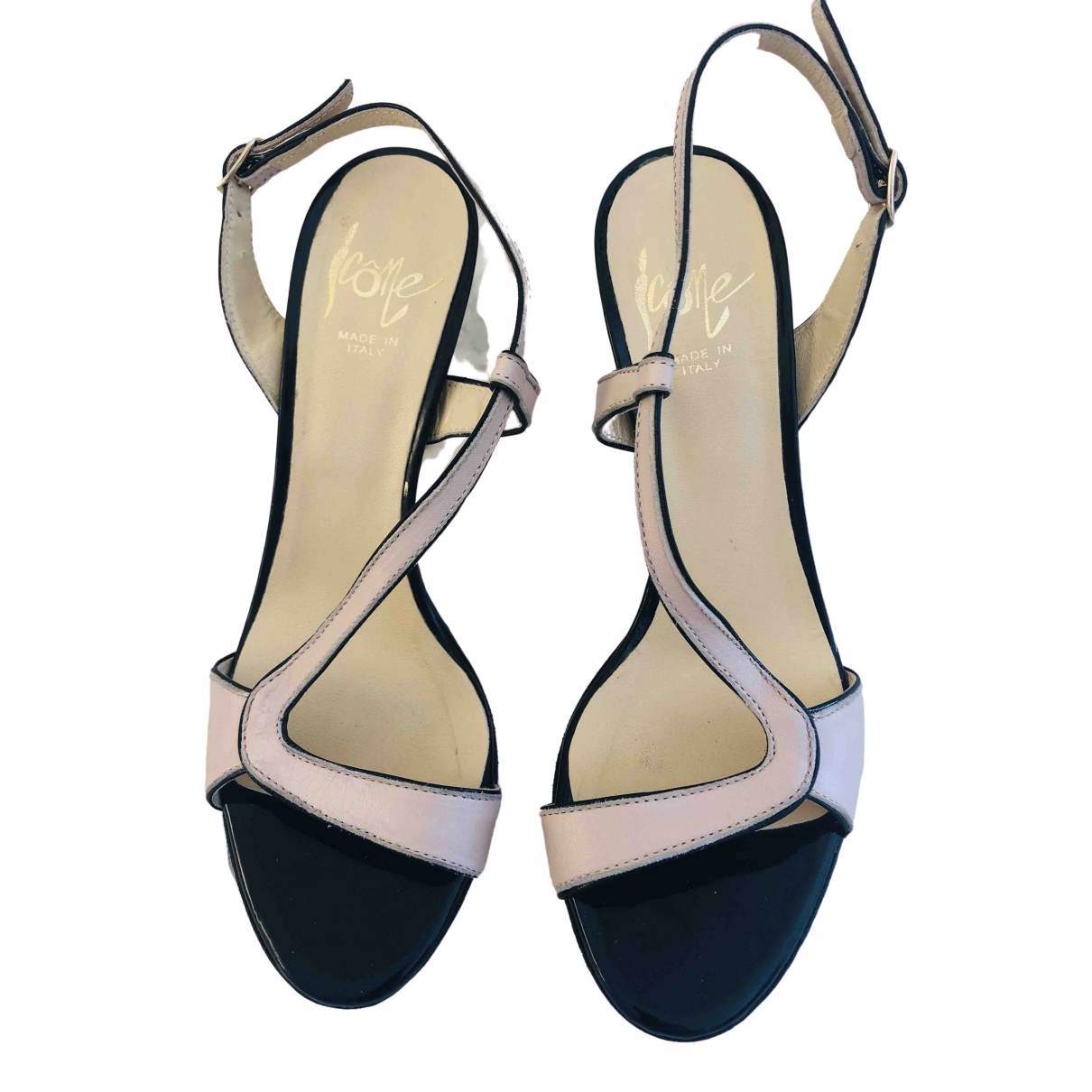 Non Signé / Unsigned \N Pink Leather Sandals for Women 39 EU