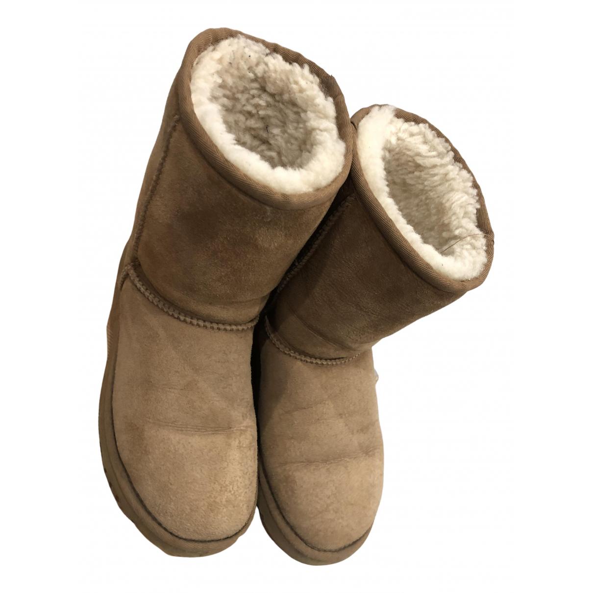 Ugg \N Stiefel in  Kamel Leder