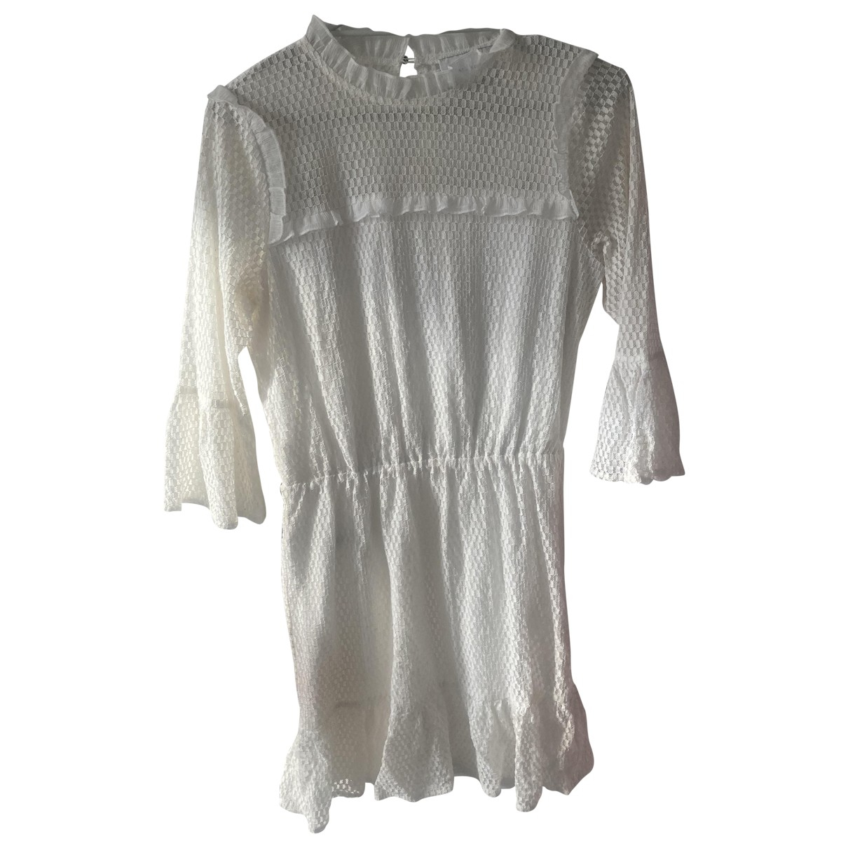 Non Signé / Unsigned N White Cotton dress for Women XS International