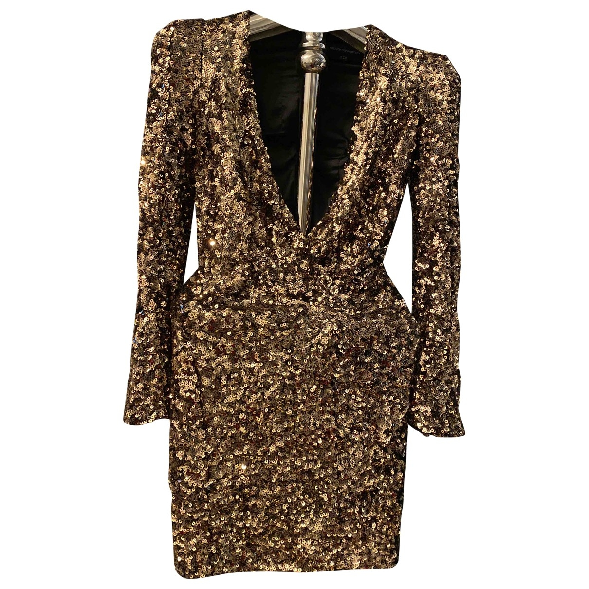 French Connection \N Kleid in  Gold Polyester