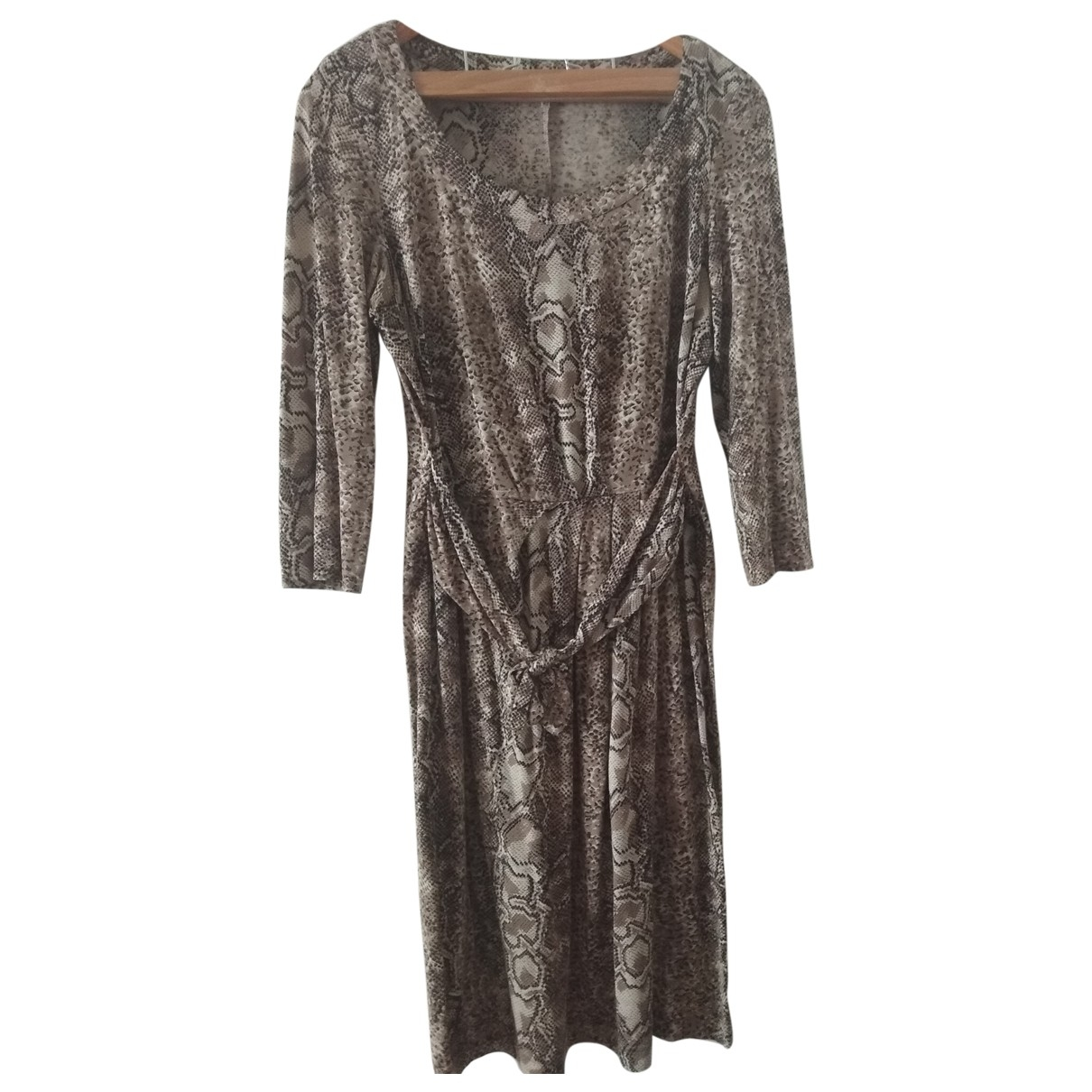 Gerard Darel \N Kleid in  Beige Baumwolle