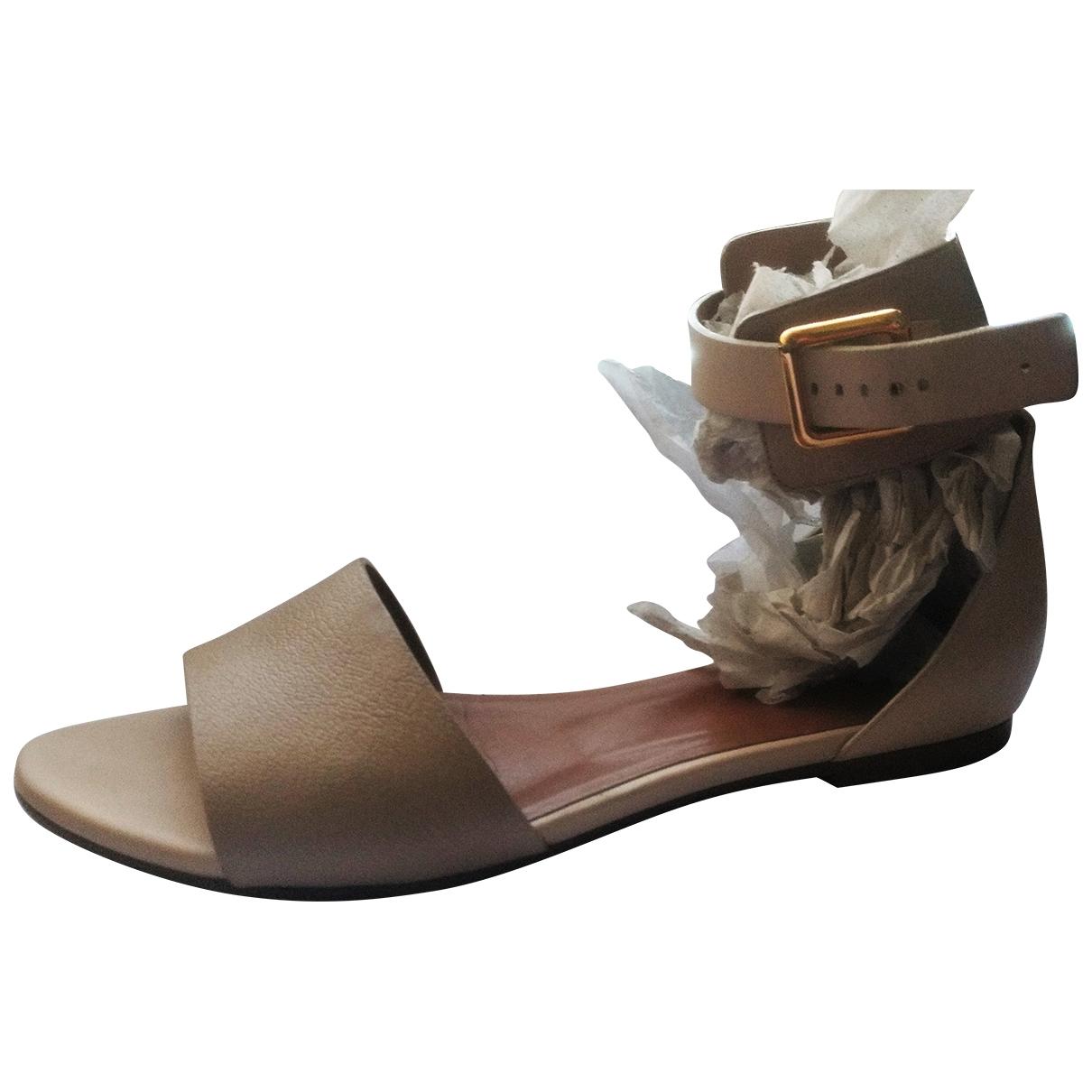 Chloe - Sandales   pour femme en cuir - ecru