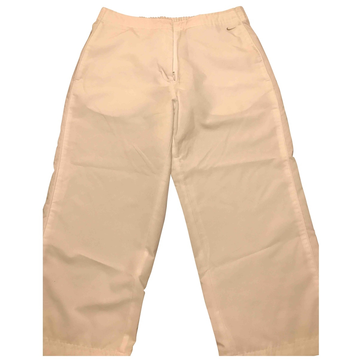Nike \N White Trousers for Women 42 IT