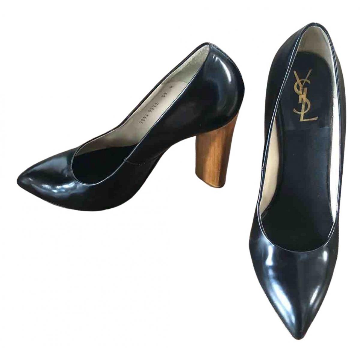 Yves Saint Laurent \N Black Leather Heels for Women 39 EU