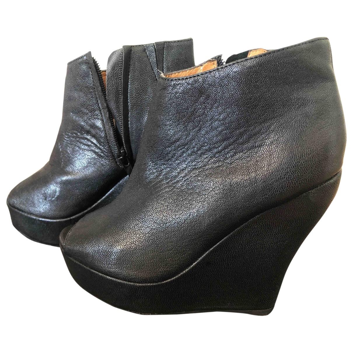 Jeffrey Campbell \N Black Leather Heels for Women 36 EU