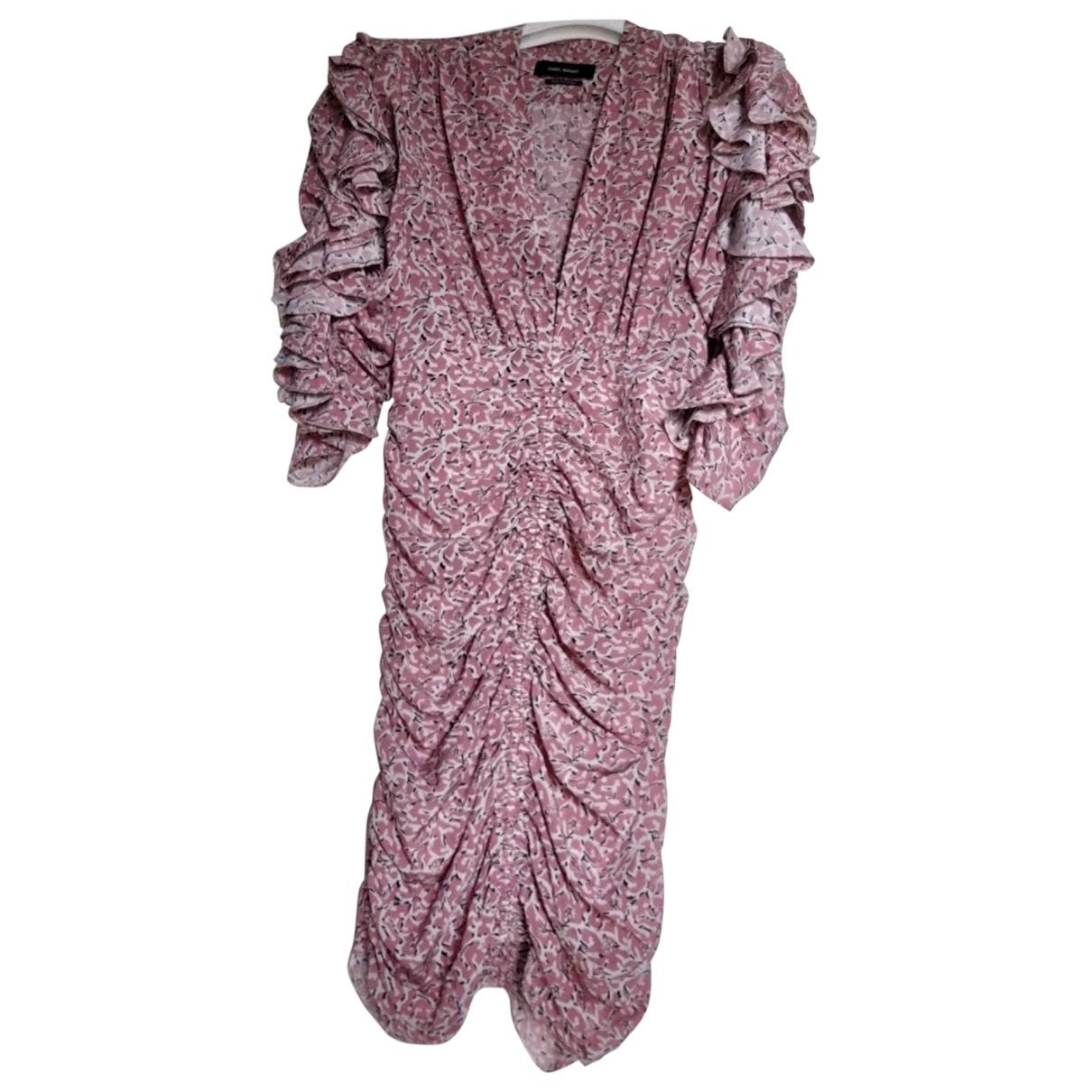 Isabel Marant - Robe   pour femme en soie - rose