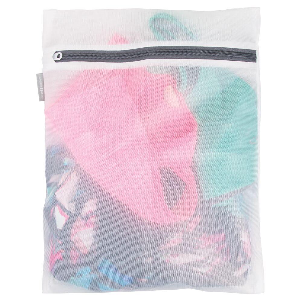 Medium Mesh Laundry Wash Bag for Delicates, Bra, Lingerie -  in White, 12