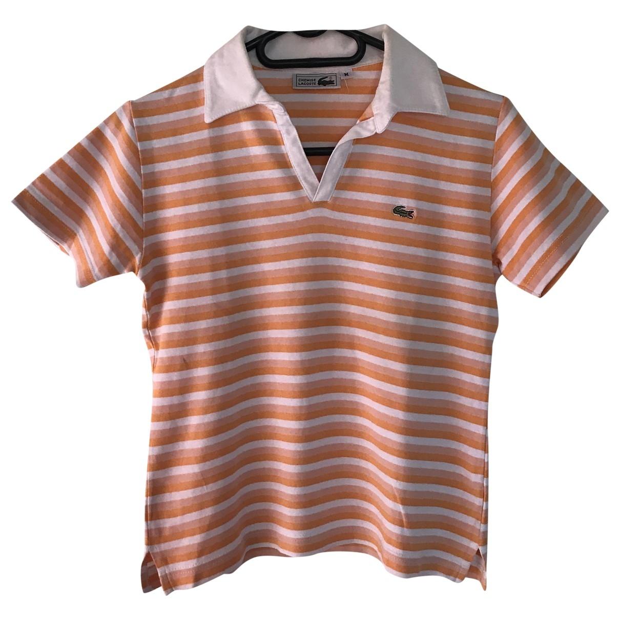 Lacoste \N Top in  Orange Baumwolle